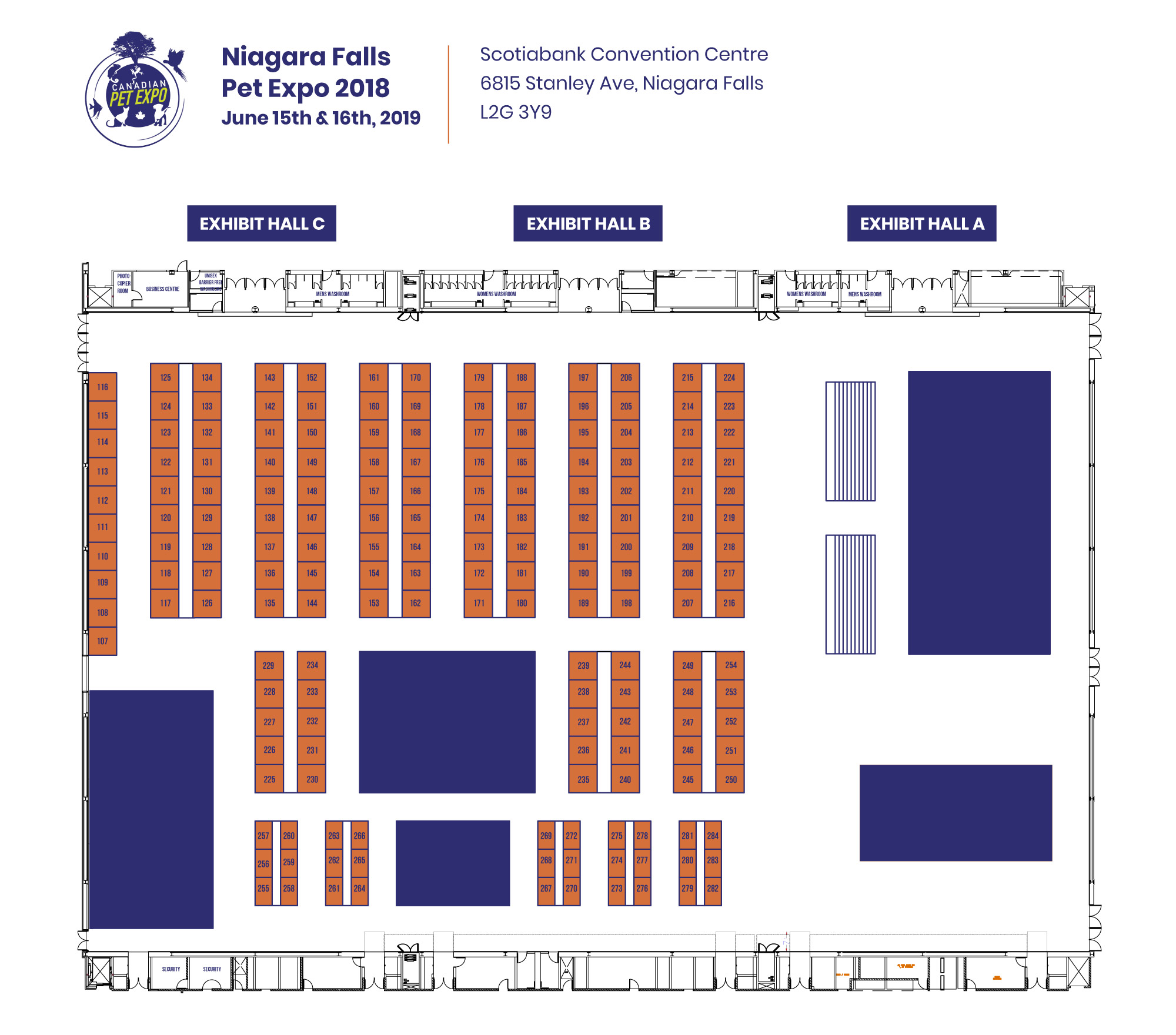 Niagara Falls Pet Expo Floorplan